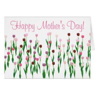 Cartão - dia das mães - tulipas óptimos