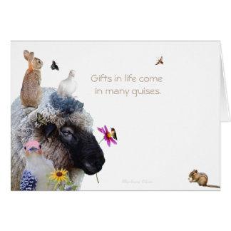 Cartão Dia de continuação feliz: Os presentes vêm em
