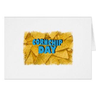 Cartão Dia de Cornchip - dia da apreciação
