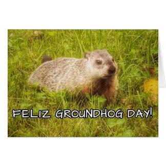 Cartão Dia de Feliz Groundhog!