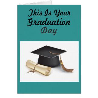 Cartão Dia de graduação