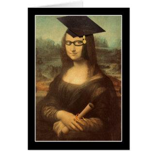 Cartão Dia de graduação de Mona Lisa