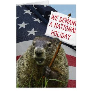 Cartão Dia de Groundhog