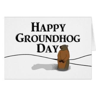 Cartão Dia de Groundhog feliz