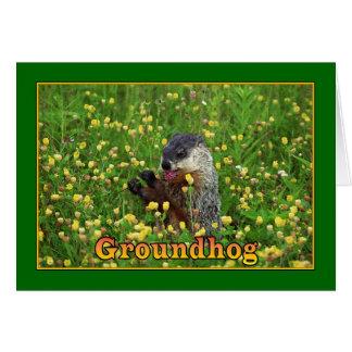 Cartão Dia de Groundhog feliz!
