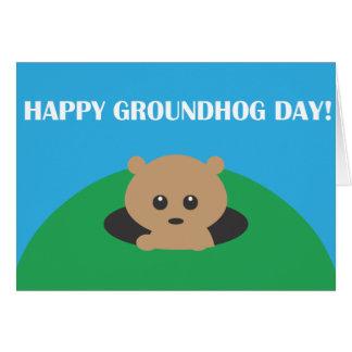 Cartão Dia de Groundhog - precipitação da palavra