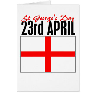 Cartão Dia de Inglaterra, St George