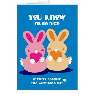 Cartão Dia de namorados você sabe que eu serei coelhos