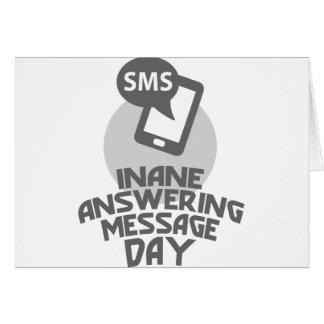 Cartão Dia de resposta vazio da mensagem - dia da