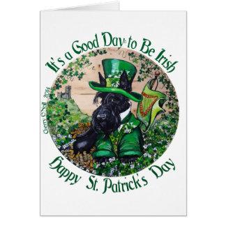 Cartão Dia de Terrier St Patrick do Scottish