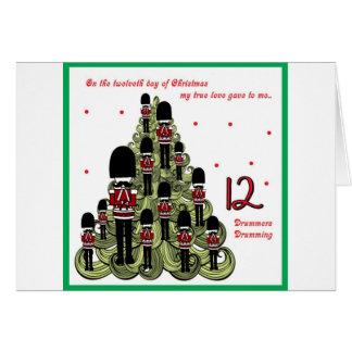 Cartão Dia de Twelveth do Natal