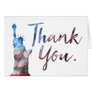 Cartão Dia de veteranos feliz (obrigado da liberdade