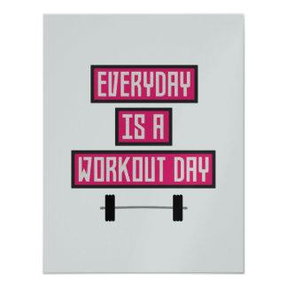 Cartão Dia diário Z52c3 do exercício
