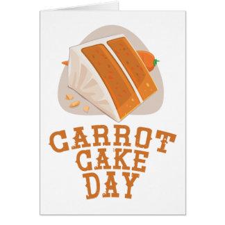Cartão Dia do bolo de cenoura - dia da apreciação