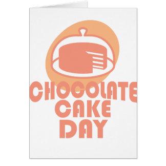 Cartão Dia do bolo de chocolate - dia da apreciação