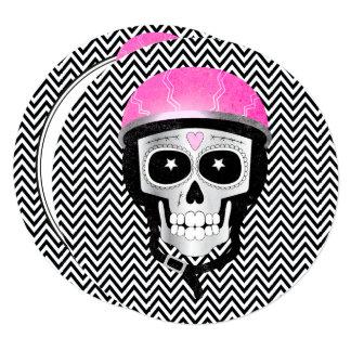 Cartão Dia do crânio do motociclista do morto ou do