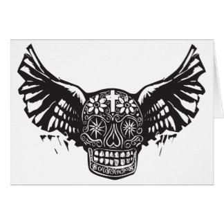 Cartão Dia do crânio voado morto