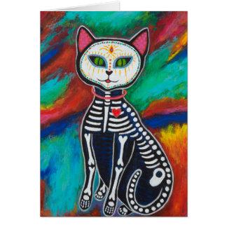 Cartão Dia do gato inoperante