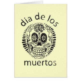 Cartão dia do morto