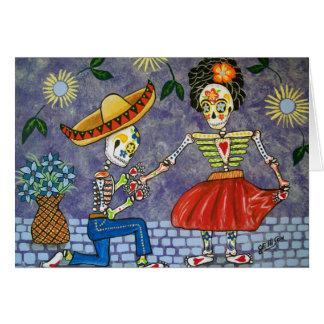 Cartão Dia do morto a data Notecard do casamento da