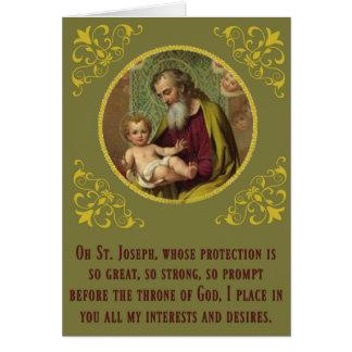 Cartão Dia do Novena do banquete de Jesus do bebê de St