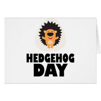 Cartão Dia do ouriço - dia da apreciação