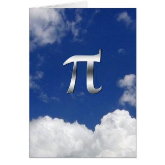 Cartão 'Dia do Pi cómico no céu