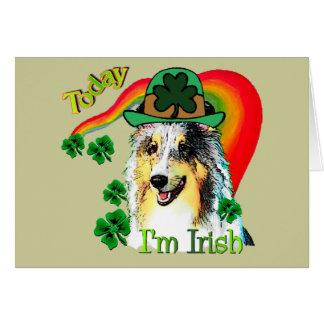 Cartão Dia do St. Patricks de Sheltie