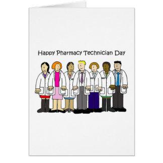 Cartão Dia do técnico da farmácia