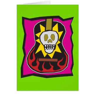 Cartão Dia do verde inoperante w/Purple da guitarra de