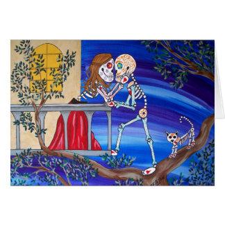Cartão Dia dos amantes famosos inoperantes Romeo e Juliet