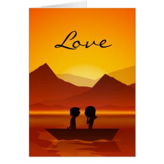 Cartão Dia dos namorados bonito do AMOR da montanha do