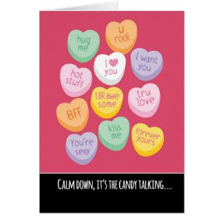 Cartão Dia dos namorados bonito e engraçado dos corações