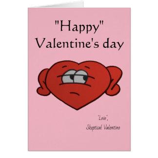 Cartão Dia dos namorados céptico