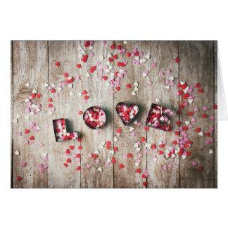 """Cartão Dia dos namorados - confetes do """"amor"""""""