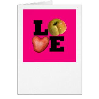 Cartão Dia dos namorados cor-de-rosa 2 de cumprimento do