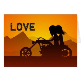Cartão Dia dos namorados das montanhas do AMOR do casal