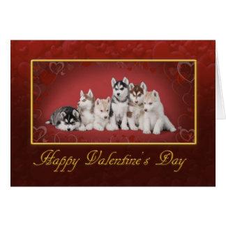 Cartão Dia dos namorados de Huskys