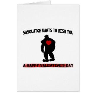 Cartão Dia dos namorados de Sasquatch