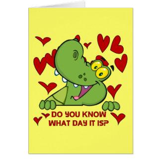 Cartão Dia dos namorados do jacaré