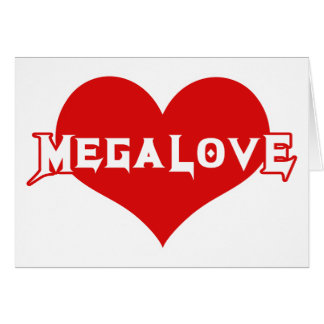 Cartão Dia dos namorados do metal de Megalove