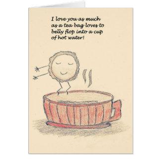 Cartão Dia dos namorados do saquinho de chá do falhanço