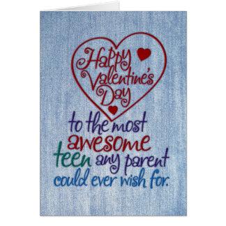 Cartão Dia dos namorados engraçado a adolescente do pai
