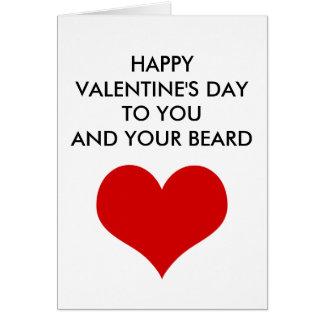 Cartão dia dos namorados engraçado a você e a sua barba