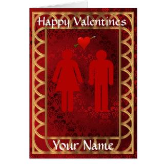 Cartão Dia dos namorados engraçado do coração do amor do