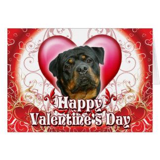 Cartão Dia dos namorados feliz Rottweiler2
