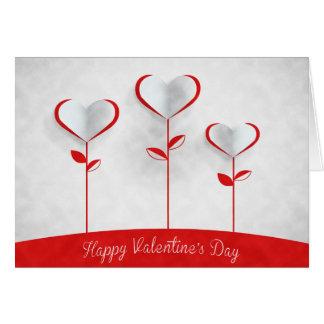 Cartão Dia dos namorados - flores do coração