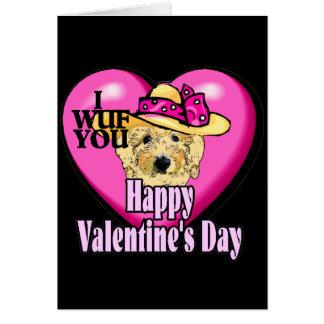 Cartão Dia dos namorados Goldendoodle