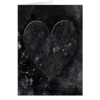 Cartão Dia dos namorados gótico do céu nocturno preto do
