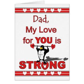 Cartão Dia dos namorados para o pai, pesos de